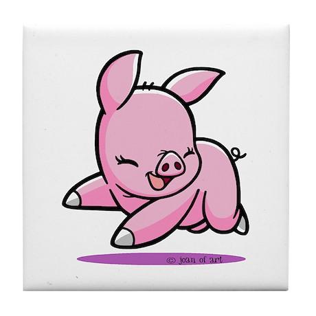 Cute Piggy Tile Coaster