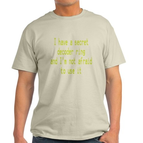 Secret Decoder Ring Light T-Shirt