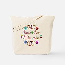 Peace Love Minnesota Tote Bag