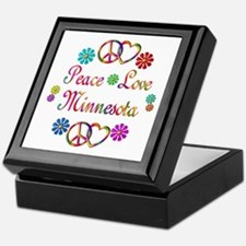 Peace Love Minnesota Keepsake Box