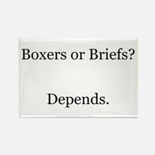 Boxers Briefs Depends Rectangle Magnet