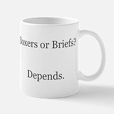 Boxers Briefs Depends Mug