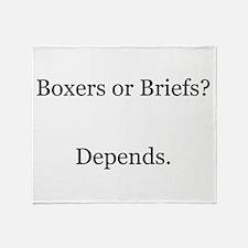 Boxers Briefs Depends Throw Blanket
