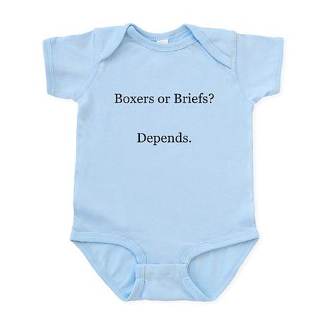 Boxers Briefs Depends Infant Bodysuit