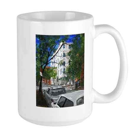 Cafe in Greenwich Village Large Mug