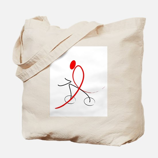 Funny Aids ribbon Tote Bag