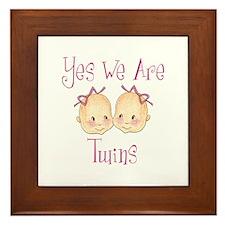 Yes Twins GG Framed Tile