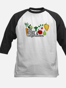 Eat Fruits & Vegetables Kids Baseball Jersey