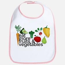 Eat Fruits & Vegetables Bib