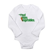 Eat More Vegetables Long Sleeve Infant Bodysuit
