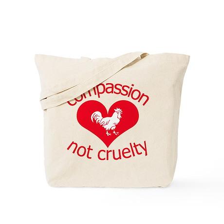 Compassion not cruelty Tote Bag