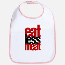 Eat Less Meat Bib
