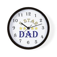 5 Star Dad 2 Wall Clock