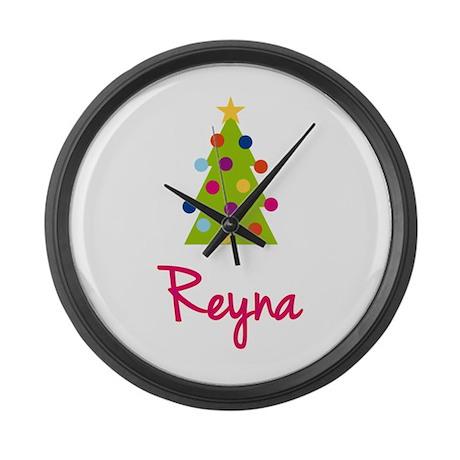 Christmas Tree Reyna Large Wall Clock