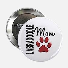 "Labradoodle Mom 2 2.25"" Button"