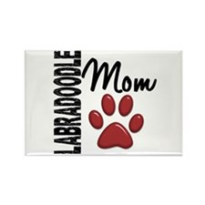 Labradoodle Mom 2 Rectangle Magnet
