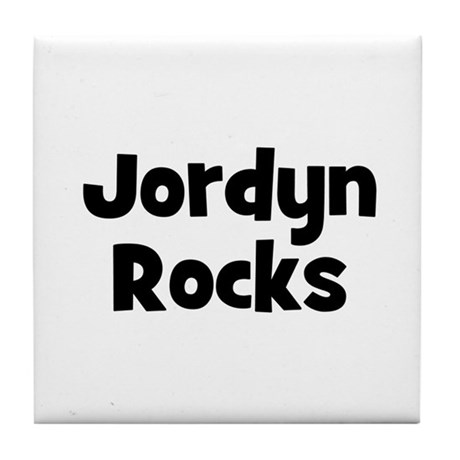 Jordyn Rocks Tile Coaster