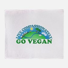 Live Compassionately Throw Blanket