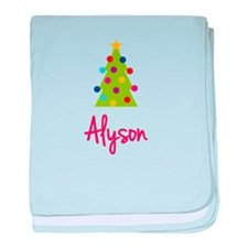 Christmas Tree Alyson baby blanket