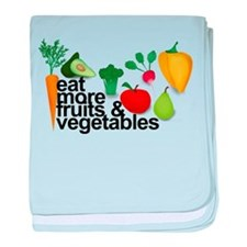 Eat Fruits & Vegetables baby blanket