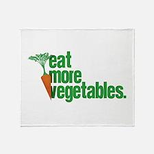 Eat More Vegetables Throw Blanket