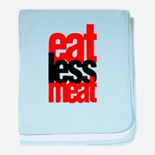 Eat Less Meat baby blanket
