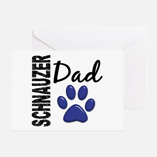 Schnauzer Dad 2 Greeting Card