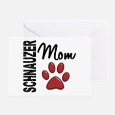 Schnauzer Mom 2 Greeting Card