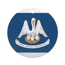 Louisiana State Flag Ornament (Round)