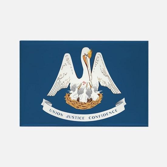 Louisiana State Flag Rectangle Magnet