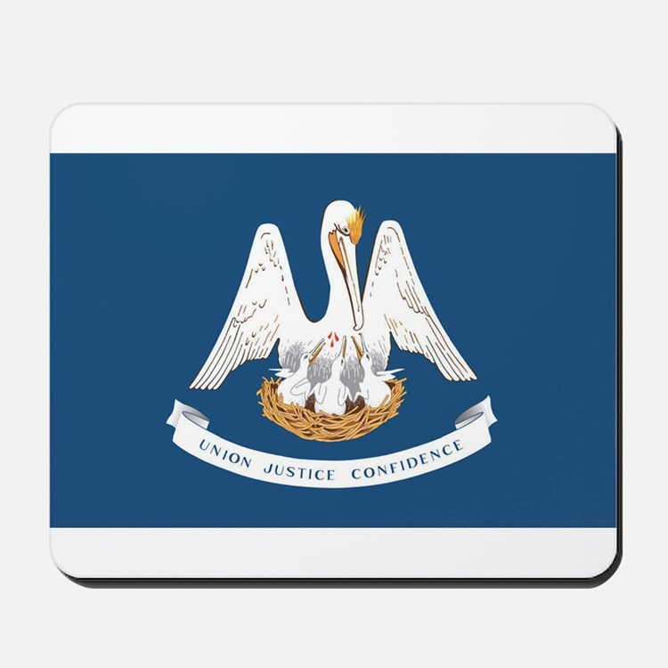 Louisiana State Flag Mousepad