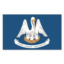 Louisiana State Flag Decal