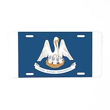Louisiana State Flag Aluminum License Plate