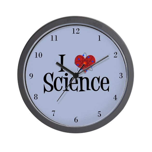 I Love Science Wall Clock By Giftsofgrace