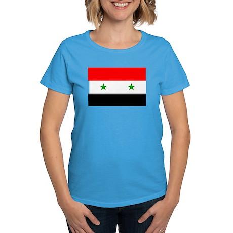 Flag of Syria Women's Dark T-Shirt