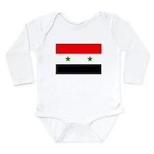 Flag of Syria Long Sleeve Infant Bodysuit