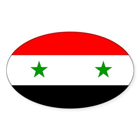 Flag of Syria Sticker (Oval)