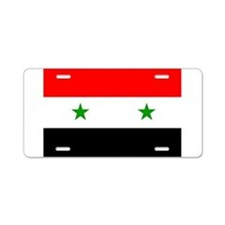 Flag of Syria Aluminum License Plate