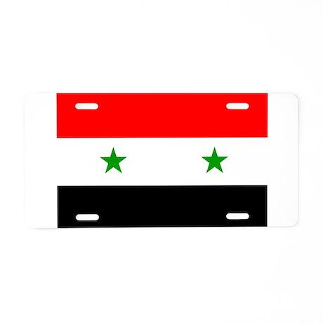 Flag of Syria Aluminum License Plate