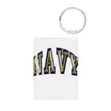 USN Navy Blue and Gold Keychains