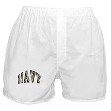 USN Navy Blue and Gold Boxer Shorts