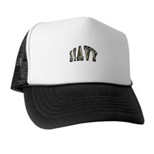 USN Navy Blue and Gold Trucker Hat