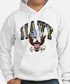 USN Navy Blue and Gold Eagle Hoodie