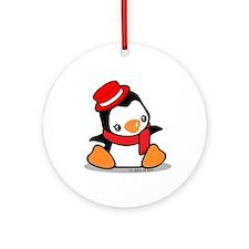 Pretty Penguin (2) Ornament (Round)