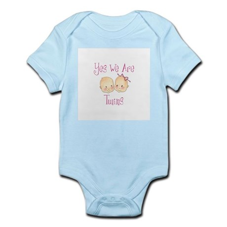 Yes Twins BG Pink Infant Creeper