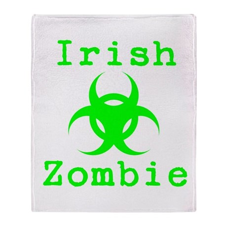 Irish Zombie Throw Blanket