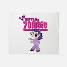 My Little Zombie Throw Blanket