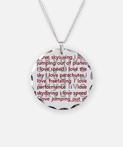 I love Skydiving Necklace