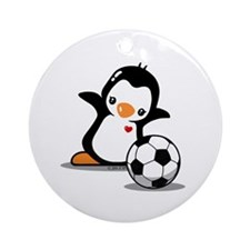 I Like Soccer Ornament (Round)