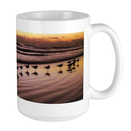 Birds at the Shore Large Mug